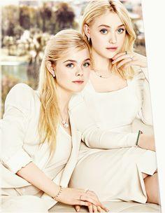 Dakota and Elle Fanning for J Estina