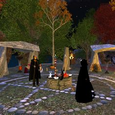 Witches do many rituals. This is a Samhain ritual. Samhain falls on October 31. At the end of the last harvest, Samhain is celebrated. We give thanks for our bountiful harvest and we also honor our Ancestors.