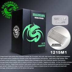 Dragonhawk high-grade Silver Standard Needles 50 pcs 1215M1 Weaved Magnum Disposable Tattoo Needles  Tattoo Supply #Affiliate