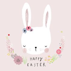 I forgot to post this a few weeks ago for Easter. I was obviously too… - Oops! I forgot to post this a few weeks ago for Easter. I was obviously too… Oops! I forgot to po - # Easter 2020, Easter Parade, Hoppy Easter, Easter Bunny, Ostern Wallpaper, Easter Illustration, Rabbit Illustration, Tarjetas Diy, Design Floral