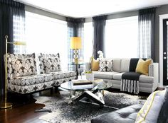 the freshest color combo for spring: black, white and yellow — The Decorista