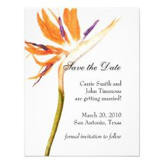 Save the Date with Bird of Paradise Invites Shoppinglowest price Fast Shipping and save your money Now!!...
