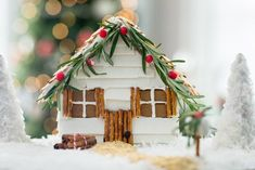 Get the Farmhouse of Your Dreams, Gingerbread-Style Take a basic gingerbread kit from boring to fabulous with a farmhouse upgrade that's brimming with style. Gingerbread House Designs, Gingerbread House Parties, Christmas Gingerbread House, Gingerbread Houses, Gingerbread Cookies, Winter Christmas, All Things Christmas, Christmas Holidays, Christmas Goodies