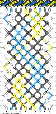 Pulsera de 10 Cordones, 4 Colores y 20 Filas
