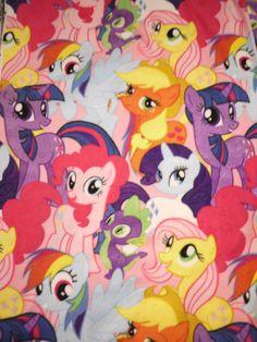 My Little Pony Rarity Rainbow Dash Fluttershy, Pinkie Pie-2  Fat Quarter Fabric Fleece Print
