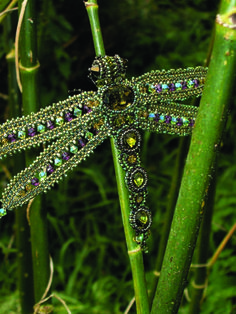 heather-beads: Dragonflies take wing | #beading #beads #bead