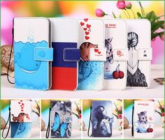New 12 Colors Cartoon Patterns PU Leather Phone Case For Gigabyte GSmart Mika M3 Cover Cases Shipping with Track Code