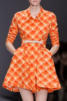 Orange Cacharel at Paris Fashion Week Spring 2013 by Janny Dangerous