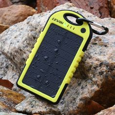 LevinTM Solstar Solar Panel Charger 6000mAh Rain/Dirt/Shockproof Dual USB Port Portable Charger Backup External Battery Power Pack for iPhone 5S 5C 5 4S 4, iPad Air, Other iPads, iPods(Apple Adapters not Included), Samsung Galaxy S5 S4, S3, S2, Note 3, Note 2, Most Kinds of Android Smart Phones and Tablets,Windows phone, Gopro Camera and More Other Devices (yellow)(Pls buy the authentic Branded items and turn down the knockoffs)