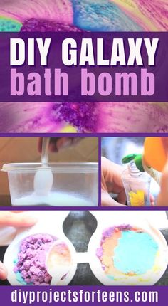 DIY Galaxy Bath Bombs Tutorial   Fun DIY Projects for Teens and Adults   Cool Ideas to Make for the Bath