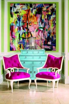 Plascon Complementary Colours: Pink & Green, Image Source paperblog.com