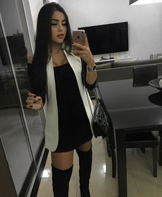 Edgy Outfits, Night Outfits, Fall Outfits, Cute Outfits, Fashion Outfits, Womens Fashion, Classy Outfit, Dress With Boots, Dark Fashion