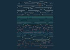 Linear Landscape by Rick Crane | Threadless
