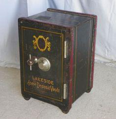 Salesman Sample Combination Antique Iron Safe