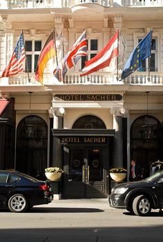 Hotel Sacher,Vienna, Austria -- great place to stay (excellent Tafelspitz at the restaurant and, of course, their famous Sachertorte at the sidewalk café ) Great Places, Places To Go, Vienna Austria, Visit Austria, Europe Centrale, Hotels And Resorts, Luxury Hotels, Voyage, Places