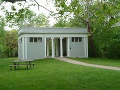 Neo-Classical style pavilion in Island Park in Ann Arbor, Michigan Eastern Michigan University, Island Park, Great Restaurants, Ann Arbor, Thesis, Cousins, Pavilion, View Photos, Playground