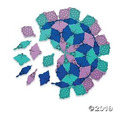 Tessellations in the Ocean: A brilliant blend of art and math, these classroom-sized sets encourage students to experiment with repeating patterns using the brightly-colored foam pieces. Lesson plan focus: Hands-on tessellation exploration Free Lesson Plans, Charts And Graphs, Problem Solving Skills, Activity Sheets, Repeating Patterns, Ocean, Shapes, Activities, How To Plan
