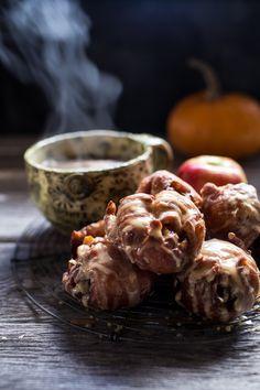 Maple Glazed Apple Fritters From: Half Baked Harvest, please visit Scones, Apple Glaze, Apple Fritters, Half Baked Harvest, Fall Treats, Food 52, Apple Cider, Sweet Tooth, Breakfast