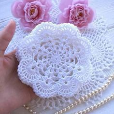 Crochet snowflakes Christmas decorations set of 6 crochet Diy Crochet Flowers, Crochet Butterfly Pattern, Crochet Coaster Pattern, Crochet Circles, Crochet Flower Patterns, Crochet Diagram, Crochet Squares, Crochet Doilies, Crochet Lace