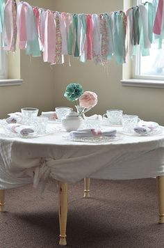 """Afternoon Tea -- What a clever """"banner/streamer"""" idea!  Love it!"""