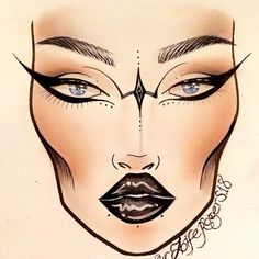 It's been too long since I did a facechart!! This one is heavily inspired by the queen of facecharting @sonya_miro !! #macfacecharts #facechart #facechartart #drawingwithmakeup #maccosmetics #sonyamiro @mac_facechart @macfacecharts @macfacechart @facecharts @instabeeyou #maccosmetics #mac #motd #fotd #facechartoftheday #facecharting #brows #abh #abhmodernrenaissance #space @peachyqueenblog #myartistcommunity