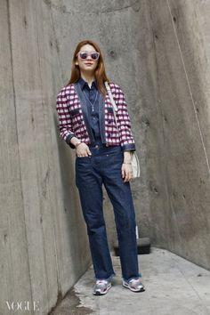 Street style: Kim Jin Kyung at Seoul Fashion Week Fall 2015