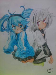 Ene and Konoha from Mekakucity actors----|ART|