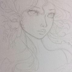 """WIP - BJD mermaid / (c) Wendy Fowler """" Ennaedwyn / Other Worlds Art @ FaceBook"""