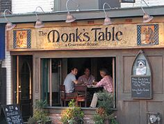 Monk's Table. Great Restaurant! Great Restaurants, Spaces, Table, House, Home, Mesas, Haus, Desk, Tabletop