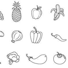 ausmalbilder obst und gemüse | obst & gemüse | obst und