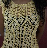 Sweet Nothings Crochet: UNE FLEUR - FLOWER LIKE LADIES TOP
