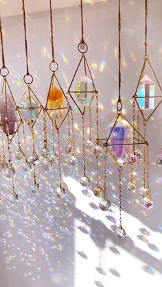 My New Room, My Room, Crystal Room, Bedroom Decor, Wall Decor, Handmade Wire Jewelry, Wind Chimes, Room Inspiration, Glass Art