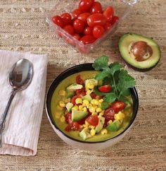 5 minuet raw blended corn chowder Vitamix recipe
