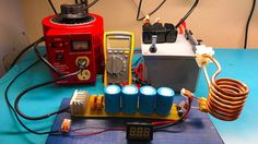 Hey guys, this is my portable induction heater that can be powered either with batteries or connected to a power supply. You can use this to heat metals well above. Induction Forge, Induction Heating, Diy Electronics, Electronics Projects, Electronics Components, Electrical Wiring Colours, Diy Heater, Power Supply Circuit, Electronic Circuit Projects
