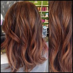 Warm fall brunette balayage