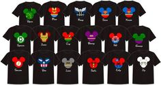 SUPERHEROES Disney Vacation Group Shirts by TheMouseBoutique