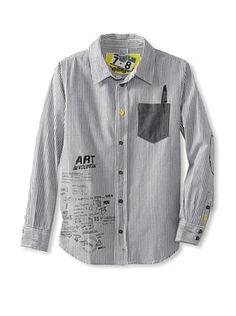 56% OFF Desigual Boy's Button Down Shirt (Black)