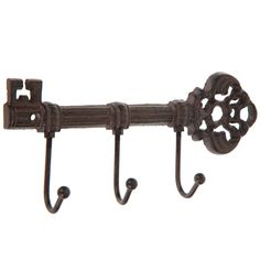 Rust Key, Industrial Wall Hooks, Wall Mounted Hooks, Silhouette Cameo Machine, Print Coupons, Metal Wall Decor, Front Door Decor, Metal Walls
