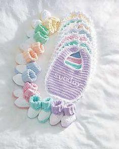 Crotchet Baby Bib & Boots Pattern
