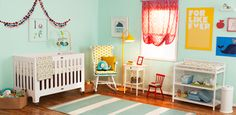 Colorful and eclectic nursery