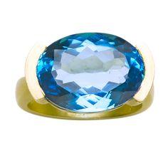 Blue Topaz Ring | 1stdibs.com