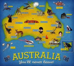 Good things in Australia! Vacation Places, Dream Vacations, Sharks With Lasers, Facts About Australia, Tourist Map, Australia Map, Life Page, Baby Shark, Quote Posters