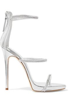 169a9465a9a489 GIUSEPPE ZANOTTI Crystal-embellished metallic leather sandals.   giuseppezanotti  shoes  sandals Sandals