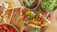 Rachael's Ground Beef Stuffed Quesadillas and Refried Black Beans Recipe