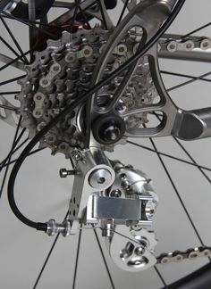 That is a sweet derailleur. Firefly Bicycles Monster Cross NOS MTB Bmx, Mtb Bike, Bicycle Garage, Bicycle Parts, Kayaks, Bike Shelter, Bike Details, Bicycle Components, Cycling Art