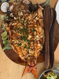 Whole Snapper: Aromatic stuffing, Jimbaran glaze Main Dishes, Side Dishes, Bamboo Stalks, Grilled Octopus, Sustainable Seafood, Jimbaran, Wood Fired Oven, Aromatic Herbs, Spiced Rum