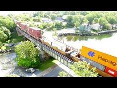 DJI Phantom 3 Aerial Video - CN Stack Train 120 w/DPU at Bedford, NS (July 12, 2016) - YouTube