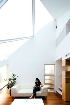 """""""We realise that skylights are the most important openings in urban houses,"""" said the architects. """"It is because the sky is the only element of nature left in the urban context, and the skylight serves as an interface between people and nature."""""""