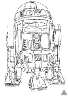 Star Wars Continuous Line Drawings by British artist Sam Hallows.