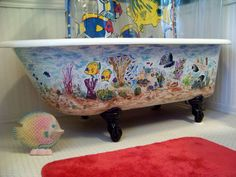 Water fairies ... Painted porcelain tub | Fairy, Fae, Pixie, Elf ...